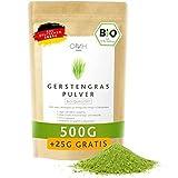 Gerstengras Pulver Bio 500g + 25g gratis I Deutsche Bioqualität aus Bayern Gerstengraspulver vegan...