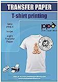 PPD A4 x 10 Blatt PREMIUM Inkjet T-Shirt Transferpapier für Tintenstrahldrucker - Transparente...