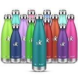 KollyKolla Thermosflasche ,Trinkflasche Edelstahl 350ml, 500ml, 650ml,750ml-Auslaufsicher...