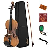 Eastar 4/4 Geige für Erwachsene Kinder Violine Set Anfänger mit Lernpunkt in Fingerplatte mit...