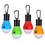 Yizhet Campinglampe, 4xLED Campinglampe LED Camping Laterne Zeltlampe Glühbirne Set, Notlicht mit...
