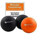 """Sportastisch Duo Massageball Faszienball 2er Set """"Deep Relax"""" mit Testsiegel* Selbstmassage..."""