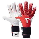 T1TAN Red Beast 2.0 Torwarthandschuhe für Erwachsene, Fußballhandschuhe Herren Innennaht und 4mm...