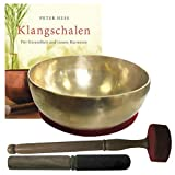 Therapie KLANGSCHALE 900-1000g + BUCH Peter Hess 5-tlg Klangmassage SET. GELENKSCHALE...