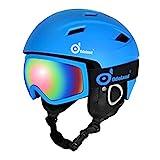 Odoland Skihelm und Skibrille Set, Snowboardhelm mit Snowboardbrille für Erwachsene und Kinder,...