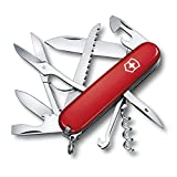 Victorinox Taschenmesser Huntsman (15 Funktionen, Schere, Holzsäge, Schraubendreher) rot