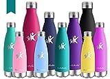 KollyKolla 500ml Thermobecher BPA-Frei Edelstahl Trinkflasche für Kinder, Auslaufsicher,...