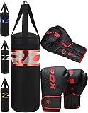RDX Kinder Boxsack 2FT Set Gefüllt Kampfsport Boxandschuhe Heavy Kickboxen MMA Muay Thai Boxen Mit...