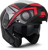 """MOTOHelmets® F19 """"Runner Red"""" · Motorrad-Helm · Klapp-Helm Modular-Helm Flip-up..."""