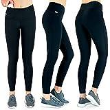 Formbelt® Laufhose Damen mit Tasche lang - Leggins Sportleggings Lauf Tights für Smartphone iPhone...