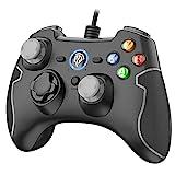 PS3 Gamepad, EasySMX PC Joystick für Spiele mit Kabel mit Dual-Vibration, Turbo und Fronttasten...