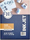 Hayes Paper Co. Nassschiebe-Aufkleber, transparent, Tintenstrahldrucker