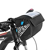 Docooler Fahrrad Lenkertasche multifunktional mit Transparentem PVC-Sichtfenster (15 * 12.2 cm) für...