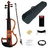 Kinglos 4/4 Farbig Massivholz Fortgeschritten Elektrische Violine Geige Set mit Ebenholz Beschläge...