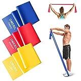 OMERIL Fitnessband 3er-Set Theraband Lang Fitnessbänder Widerstandsbänder in 3 Stärke,...