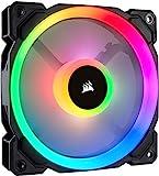 Corsair LL120 RGB LED PWM PC-Gehäuselüfter (120mm Dual Licht Loop RGB LED, Einzelverpackung)...