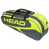 HEAD Unisex– Erwachsene Elite 9R Supercombi Tennistasche, Grey/neon Yellow, Einheitsgröße