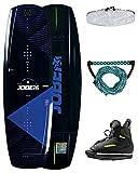 Jobe Herren Logo 138 und Maze Bindungen Paket Wakeboard, Mehrfarbig, One Size
