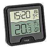 TFA Dostmann Marbella Funk-Poolthermometer, schwarz, L110 x B110 x H210 mm