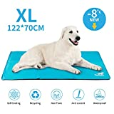 Toozey Kühlmatte für Hunde Gross - Druckaktivierte Selbstkühlend Gel Hund Kühldecke, Kein Wasser oder Kühlschrank Benötigt, Kratzfest/Wasserdicht/rutschfest Kühlmatte für Große Hunde, XL