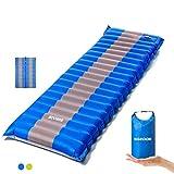 SGODDE Isomatte Camping Selbstaufblasbare, Handpresse Aufblasbare,leichte Rucksackmatte für...