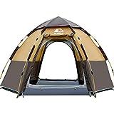 HEWOLF Camping Zelt 3-4 Personen Kuppelzelt Wasserdicht UV-Schutz Pop Up Zelt Doppelschicht Wurfzelt...