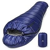 Bessport Schlafsack Winter | -9°C und 0℃ Outdoor Mumienschlafsack für Camping und Bergsteigen...