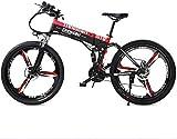 Herren fahrrad Rennräder 26 Zoll Faltbares Elektrisches Mountainbike Für Erwachsene Herren | 48V...