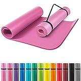 GORILLA SPORTS® Yogamatte mit Tragegurt 190 x 60 x 1,5 cm / 190 x 100 x 1,5 cm rutschfest u....