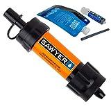 SAWYER Mini PointONE Wasserfilter für Outdoor Camping Wasseraufbereitung in Vielen Farben und...