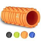 BODYMATE Faszienrolle Premium ORANGE inklusive E-Book zur Triggerpunkt-Selbstmassage - Massage-Rolle für myofasziales Training - Gymnastik-Rolle für Verklebungen Muskelbeschwerden - Fitness-Rolle
