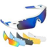HODGSON Fahrradbrille Sport Sonnenbrille für Herren und Damen Polarisierte, Sportbrille mit 5...