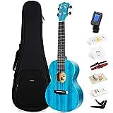 Konzert ukulele Enya EUC-25D BU 23 Zoll Blau Massiv Mahagoni Top Ukelele Starter-Kit mit...