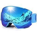 LEMEGO Skibrille Ski Goggles Snowboardbrille Doppel-Objektiv Anti-Fog Rahmenlose UV-Schutz...