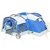 Skandika Nimbus für 8 Personen | Campingzelt mit 3 Schlafkabinen, wasserdicht, 5000 mm...