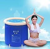 Gweat Blau Badewanne klappbar Wannenbad Fass Erwachsenen Wanne aufblasbare Badewanne, Dicker...