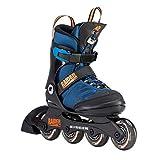 K2 Jungen Inline Skates RAIDER PRO - Schwarz-Blau-Orange - S (29-34 EU; 10-1 UK; 11-2 US) -...