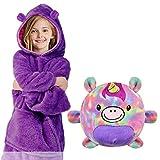 Tuopuda Hoodie Kinder 2 in 1 Sweatshirt Decke und Kissen Tier süße Kapuzenpullover Pullover mit...