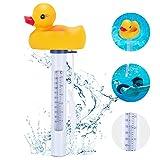 Magicfun Schwimmendes Pool Thermometer, Floating Schwimmbad Wasser Thermometer mit großer Anzeige...