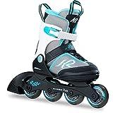 K2 Skates Mädchen Inline Skate Marlee — black - grey - light blue — S (EU: 29-34 / UK: 10-1 /...