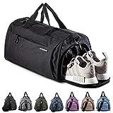 Fitgriff® Sporttasche Reisetasche mit Schuhfach & Nassfach - Männer & Frauen Fitnesstasche - Tasche für Sport, Fitness, Gym - Travel Bag & Duffel Bag 48cm x 26cm x 25cm [30 Liter] (Black, Small)