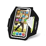 HAISSKY Handy Schweißfest Sportarmband Mit Airpods Halter für iPhone 12 Pro MAX/iPhone 11/11 Pro/XR/XS/X/8 Plus/7 Plus/8/7/6s/6,Huawei P20 Pro / P30 Pro/Mate 20 Xiaomi,LG Mit Kabelfach/Kartenhalter
