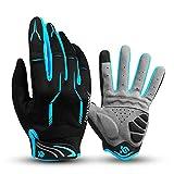 I Kua Fly Vollfinger Fahrradhandschuhe Männer Touchscreen Kompatibel MTB Handschuhe mit Gel für...