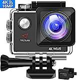 Victure Action Cam 4K WiFi Kamera Unterwasser Kamera 16MP Ultra HD Sport Camera Helmkamera...