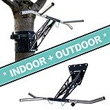 PULLUP & DIP Premium Klimmzugstange und Dip Stange, Mobil für Wand und Befestigung an Baum &...