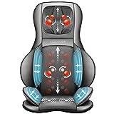 Comfier Shiatsu Massagesitzauflage mit Knet-, Rollen-, Vibrations- und Luftkompressionsmassage,...