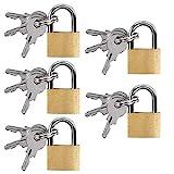 UCEC 5x Mini Vorhängeschlösser mit Schlüssel, Gepäck-Vorhängeschloss, Kleines Kofferschloss...