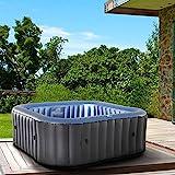 Whirlpool aufblasbar MSpa Tekapo für 6 Personen 185x185cm In-Outdoor Pool 132 Massagedüsen Timer...