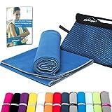 Mikrofaser Handtuch Set - Microfaser Handtücher für Sauna, Fitness, Sport I Strandtuch, Sporthandtuch I 1x L(140x70cm) I Blau