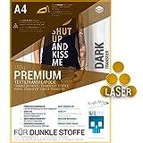 SKULLPAPER® Transferfolie FÜR DUNKLE STOFFE (*verbesserte Version*) - für Laserdrucker (A4-8...